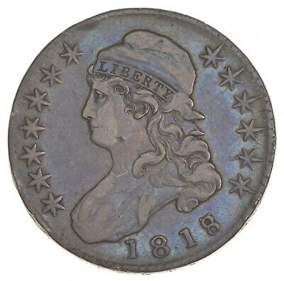1818/7 Capped Bust Half Dollar - Large 8 *7406