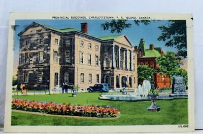 Canada Prince Edward Island Charlottetown Provincial Buildings Postcard Old View