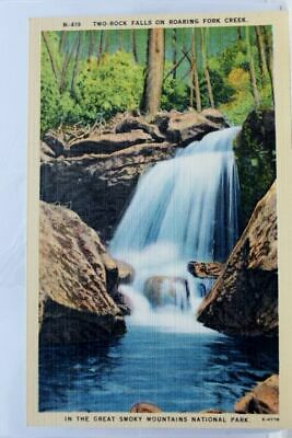 Great Smoky Mountains National Park Roaring Creek Falls Postcard Old Vintage PC