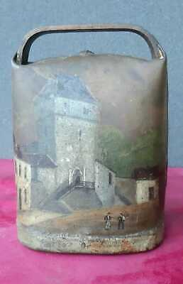 Cencerro Antiguo 16 Cm Alto Por 12 Ancho Decorado