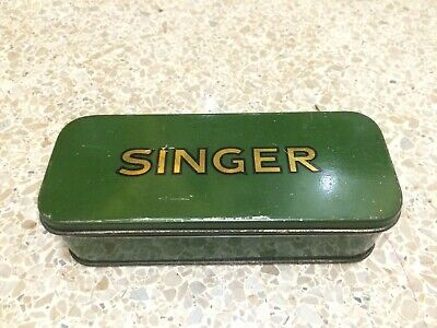SINGER Sewing Machine Attachments Tin Box Low Shank 15 66 201 221 222 SIMANCO