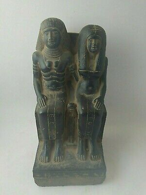 RARE ANCIENT EGYPTIAN ANTIQUE KING AMENONPHIS III and his Wife 1853-1801 BC
