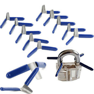 10Pcs Klom Padlock Shim Picks Set Locksmith Tool Lock Accessories Gadgets Set UK