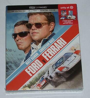 New Ford v Ferrari 4K Ultra HD & BluRay Target Exclusive Book Combo Package