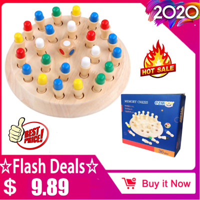 Kids Wooden Memory Match Stick Chess Game Educational Toy Brain Training Gift !