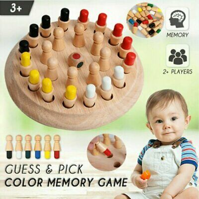 Wooden Memory Match Stick Chess Game Children Kids Puzzle Educational Toys Gift