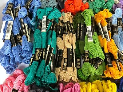 Large LOT OVER 500 DMC FLOSS EMBROIDERY Thread Needlework Cross Stitch Variety