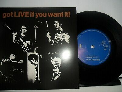 """The Rolling Stones.got Live If You Want It.made In Eu.solid Centre Ep.7"""" Vinyl."""
