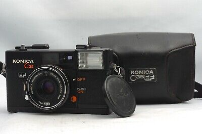 @ Ship in 24 Hours! @ Konica C35 EF Film Point & Shoot Camera Hexanon 38mm f2.8