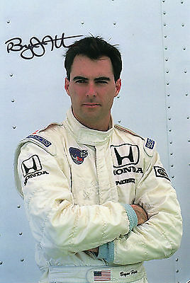 Bryan Herta Autographed Photo Indy Cars Motor Sport