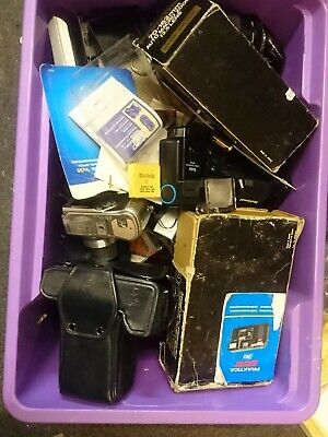 Box Of Assorted Vintage Camera Bits