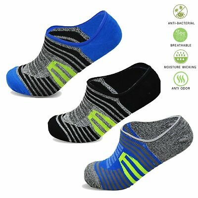 3 /& 6 Pairs Mens Trainers Socks Invisible Shoe Gym Summer Ankle Liner Size 6-11