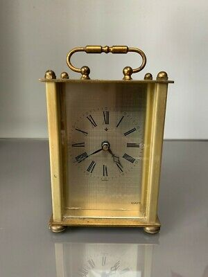 Brass Carriage/Mantel Clock - German
