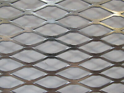 "==1/2""--#16. 304 STAINLESS STEEL FLATTENED EXPANDED METAL--10"" x 10"""