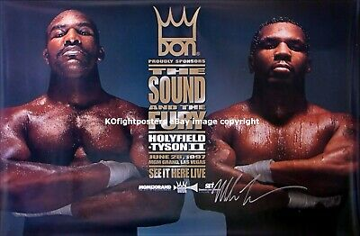 MIKE TYSON vs. EVANDER HOLYFIELD (2): Mike Tyson Signed Don King PPV Poster