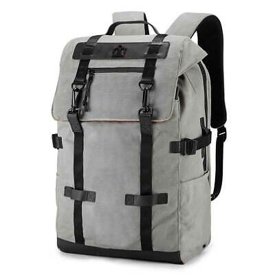 Icon Advocat 2 Wax-Canvas Backpack Grey