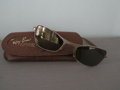 Vintage Ray Ban Bausch And Lomb Brushed Gold Ladies Sunglasses