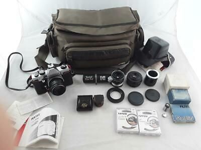 Praktica MTL5 Camera with Case/Bag and lenses