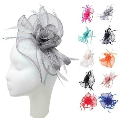 Flower Headband Fascinator Hat Alice band Wedding Ladies Day Race Royal Ascot UK