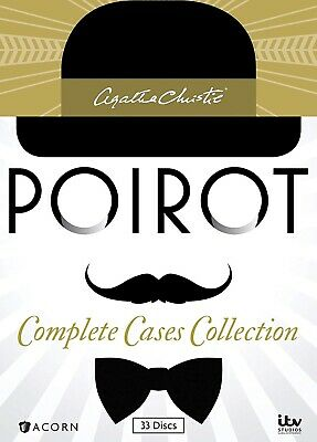Agatha Christie's Poirot: Complete Cases Collection. DVD. 33 Disc Box Set.