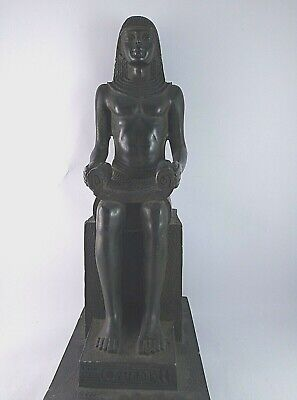 RARE ANCIENT EGYPTIAN ANTIQUE SCRIBE Statue Stone 1547-1247 BC
