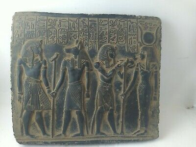 RARE ANCIENT EGYPTIAN ANTIQUE ANUBIS , NEFERTARI , Ramses II Stella 1651-1420 BC