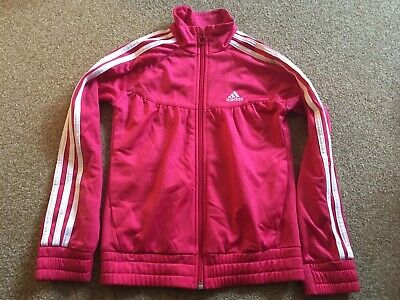 Girls, Pink, Adidas, Zipped, Top. Age 9-10yrs. NEW