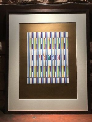 Yaacov Agam Signed Limited Edition Print From The Tribes Of Israel Series