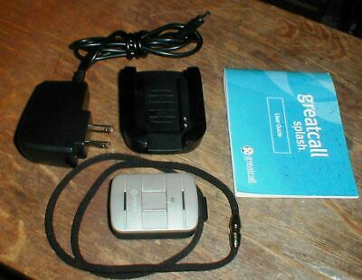 GreatCall SW100 MEDICAL ALERT DEVICE with Lanyard Charger Dock & Book SEE