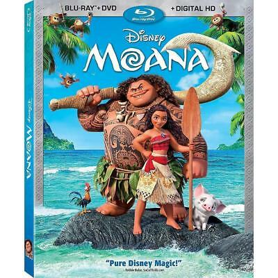 Moana (Blu-ray/DVD, 2017, 2-Disc Set, Includes Digital Copy) Factory Sealed