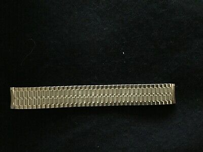 Vintage Speidel Pre-Owned Watch Band 19mm Curved Mens Gold Filled Expansion