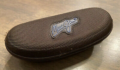 Maui Jim Eyeglass Sunglasses Case Brown Zippered with Clip