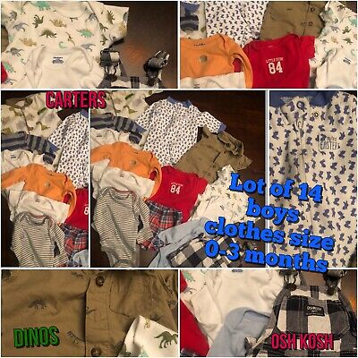 Baby Boy 0-3 Month Clothing Lot Spring Summer Osh Kosh &more Good Brands