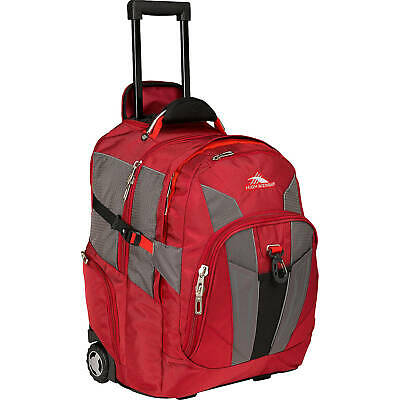 New High Sierra XBT Laptop Wheeled Laptop Backpack 17 Carmine/Red Line/Black