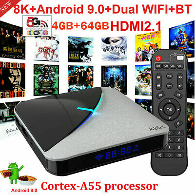A95X F3 AIR Smart TV Box 4GB RAM 64GB Android 9.0 8K UHD 75fps S905X3 WiFi BT4.2