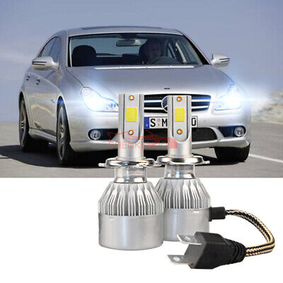 H7 100W COB LED Headlight Bulbs Pair Canbus For Mercedes-Benz CLS C219 2004-2010