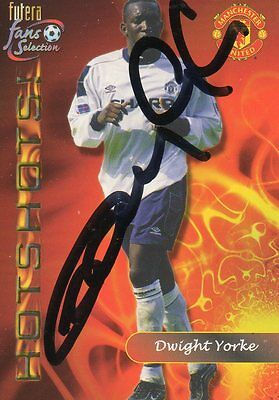 Dwight Yorke Autographed Collector Card Manchester Utd
