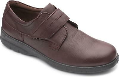 F Fit Padders COMET Mens Casual Smart Leather Regular Slip On Shoes Charcoal