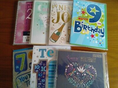 Joblot Bulk Wholesale 31 Greetings Cards New Wrapped (25/2)
