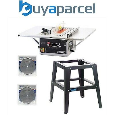 Draper 1500w Table Saw Includes Stand and x2 254mm 40t TCT Blades 240v BTS252