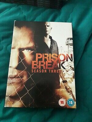Prison Break - Series 3 - Complete (DVD, 2008, 3-Disc Set) Wentworth Miller