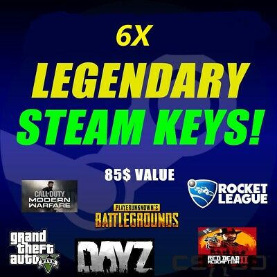6 LEGENDARY VIP Random Steam Keys Worth + 85$ + 2 keys as reward🔥🔥