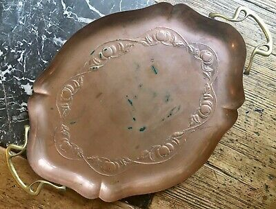 Art nouveau Copper & Brass Tray JS&S Joseph Sankey & Sons. Arts & Crafts.