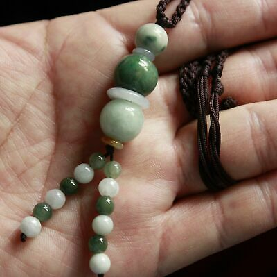 "Genuine Natural ""Grade A"" Jadeite JADE Untreated Handmade Beaded Necklace #301"