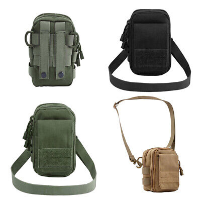 Outdoor Tactical Molle Utility Shoulder Bag Waist Pack Phone Pouch Pocket Sports