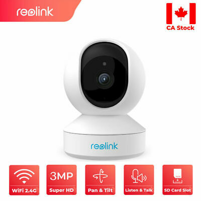 Wireless WIFI 3MP Security Camera Pan Tilt Indoor Smart 2-Way Audio Reolink E1