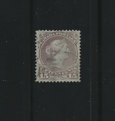 CANADA - #29i - 15c LARGE QUEEN VICTORIA VF USED STAMP