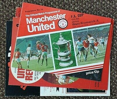 4 x Manchester United v West Bromwich Albion League 1967,1970 & 1986; FA Cup1978