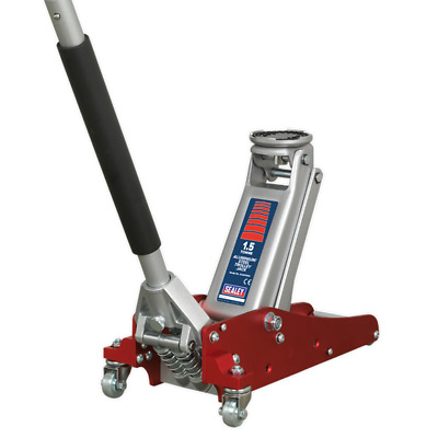Sealey RJAS1500 1.5T Low Entry Aluminium/Steel Trolley Jack Rocket Lift/Lifting