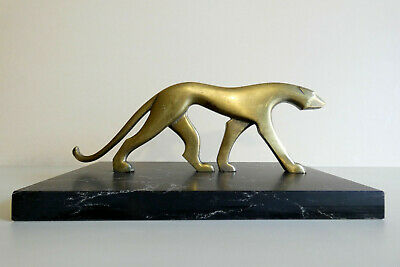 Panther sculpture art deco in brass by Karl Hagenauer 1920s